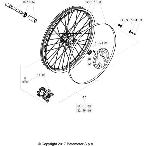 41 FRONT WHEEL
