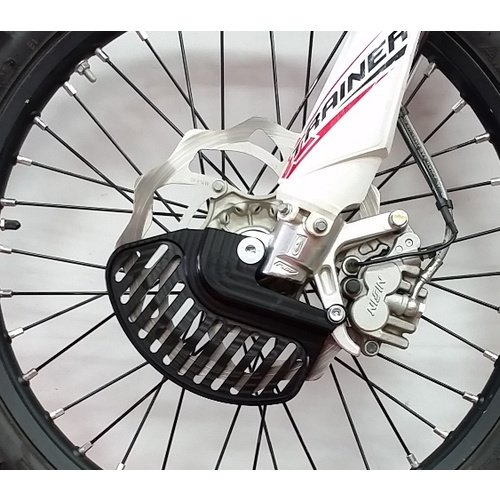 ALLOY FRONT DISC GUARD X-TRAINER ONLY (BLACK)